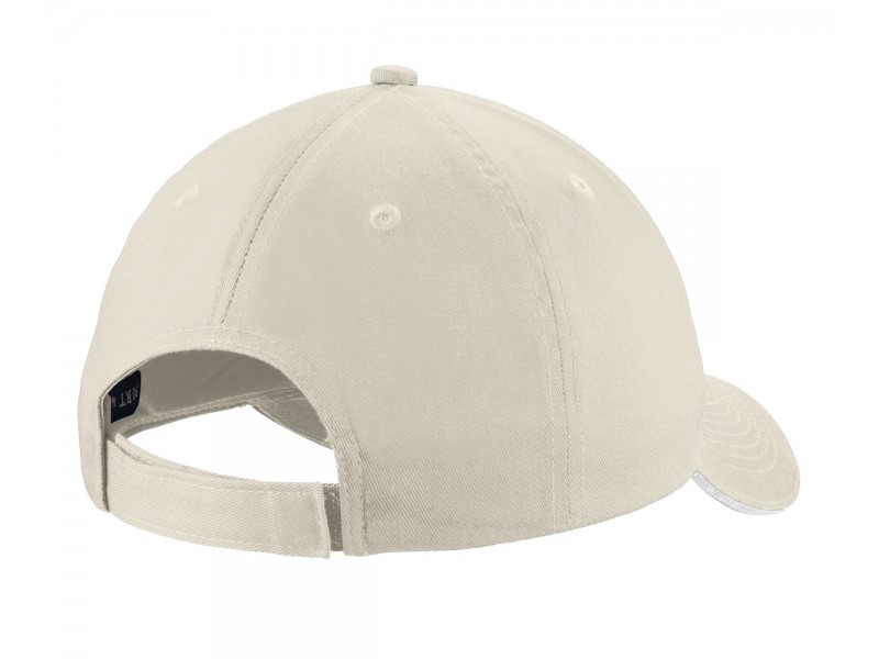 ASA Sandwich Bill Cap Oyster White