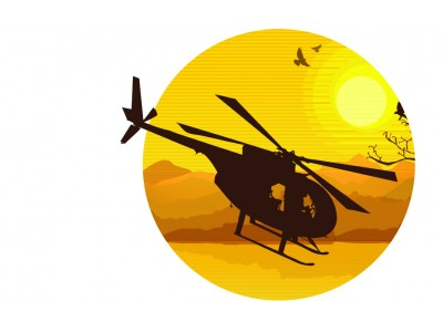 Helicopter Sunset T-Shirt